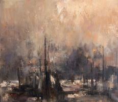 "Nikolay Dmitrievich Blokhin. Fireworks. The triptych ""Venezia"" (left side)"