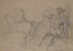 Théodore Géricault. Horse racing in England