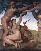 Микеланджело Буонарроти. Потолок Сикстинской капеллы. Бытие, падения и изгнание из рая. Падение..