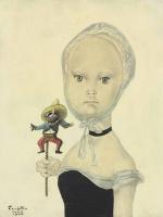 Цугухару Фудзита ( Леонар Фужита ). Девочка с куклой мексиканца