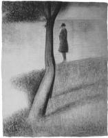 Жорж Сёра. Мужчина возле дерева