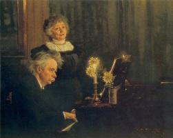 Peder Severin Kreyer. Nina and Edvard Grieg
