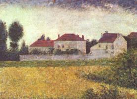 Жорж Сёра. Виль д`Авре, белые дома