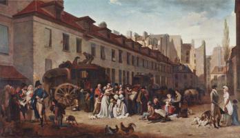 Луи-Леопольд Буальи. Прибытие почтовой кареты
