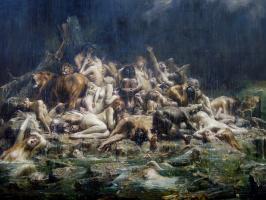 Leon Francois Comerre. Global flood
