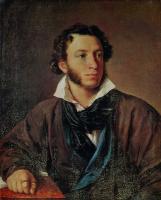 Василий Андреевич Тропинин. Портрет Александра Сергеевича Пушкина