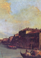 Giovanni Antonio Canal (Canaletto). The Grand canal in Venice, a fragment