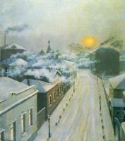 Михаил Маркианович Гермашев. Улица в Замоскворечье. Зима