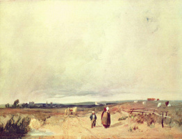 Richard Parkes Bonington. View in Normandy