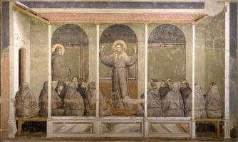 Giotto di Bondone. The phenomenon of Arles. Scenes from the life of St. Francis