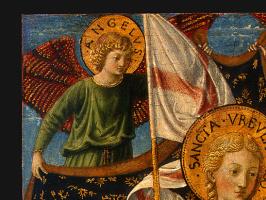 Беноццо Гоццоли. Святая Урсула с ангелами
