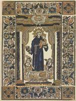 Ксилограф из печатни Эстивиль в Барселоне. Святой Антоний Падуанский
