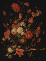 Авраам Миньон. Цветы в вазе