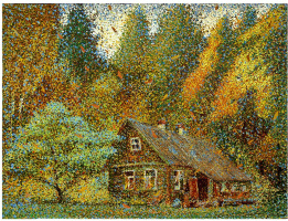 House in the woods-