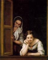 Бартоломе Эстебан Мурильо. Две девушки у окна