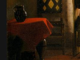 Питер де Хох. Спальня, фрагмент