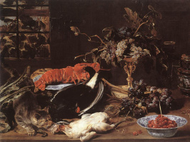 France Snyders. Still life with crab and fruit
