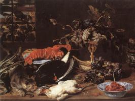 Франс Снейдерс. Натюрморт с крабом и фруктами