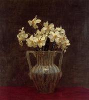 Анри Фантен-Латур. Цветы в стеклянной вазе
