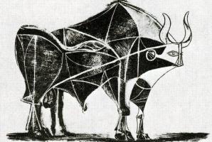 Пабло Пикассо. Бык. Стадия 5