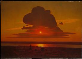 Arkhip Ivanovich Kuindzhi. Red sunset on the Dnieper