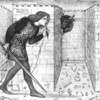 Эдвард Коли Бёрн-Джонс. Тесей и Минотавр в лабиринте