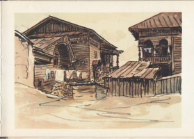 Эммануил Бенционович Бернштейн. Деревянные дома на улице Гоголя