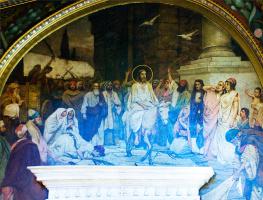 Вильгельм Александрович Котарбинский. Въезд в Иерусалим. Фрагмент росписи Владимирского собора в Киеве