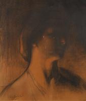 Жан Дельвиль. Портрет женщины