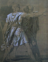 "Jacques-Louis David. Three brothers of the genus Horatii (Sketch to the ""Oath Horatii"")"