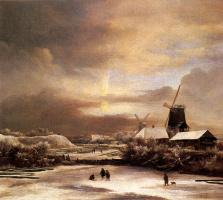 Якоб Исаакс ван Рейсдал. Зимний пейзаж