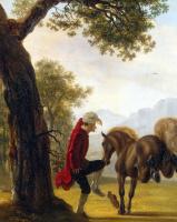 Жан Гюбер. Вольтер, укрощающий лошадь