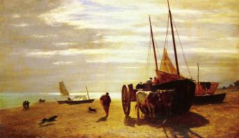 Констант Труайон. Пляж в Трувиллье