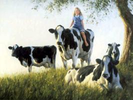Роберт Данкан. Девочка с коровами