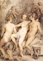 Хендрик Гольциус. Венера между Церерой и Вакхом. 1590-е