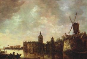 Ян ван Гойен. Замок Монфор