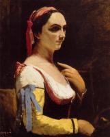 Камиль Коро. Итальянка, или Женщина с жёлтым рукавом