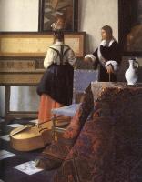 Ян Вермеер. Урок музыки. Фрагмент