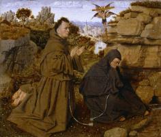 Ян ван Эйк. Святой Франциск, принимающий стигматы