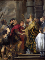 Антонис ван Дейк. Св. Амброзия запрет Феодосия  от Миланского собора