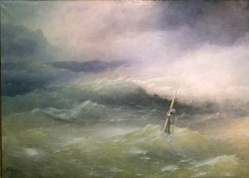 Ivan Constantinovich Aivazovski. Storm on the sea of Azov in April 1886