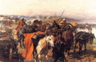 Йозеф фон Брандт. Обоз запорожцев