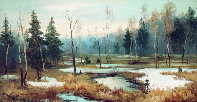 Efim Efimovich Volkov. At the end of winter