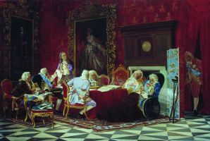 Валерий Иванович Якоби. А.П.Волынский на заседании кабинета министров. 1875