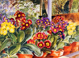 Лесли Фотерби. Первоцветы в теплице (фрагмент)