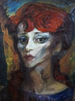 Владимир Семенович Мурахвер. Женский портрет.