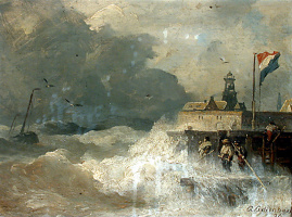 Andreas Achenbach. Storm