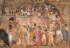 Андреа Бонаиути Да Фиренз. Христос, несущий крест на Голгофу