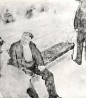 Эдгар Дега. Двое мужчин с танцовщицами