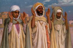 Альфонс-Этьен Дине. Молитва на рассвете